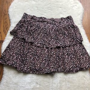 Frenchi Floral layered mini skirt elastic waist L